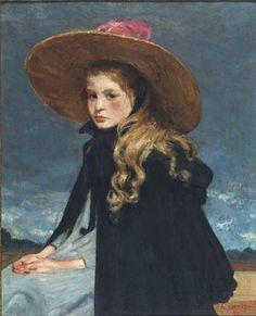 Henri Jacques Evenepoel, Henriette in a Large Hat, 1899