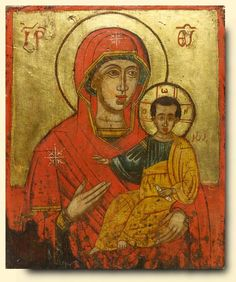 Virgin and Child - exhibited at the Temple Gallery, specialists in Russian icons
