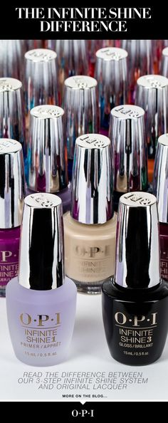 OPI PROFESSIONALS: Learn about the benefits of our Infinite Shine three-step formula and how it compares to Original Lacquer.