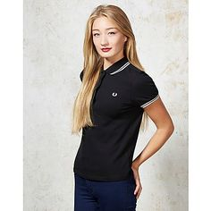 Fred Perry Twin Tipped Polo - A unique streetstyle store stocking own labels Hearts & Bows + CLOAK plus Fred Perry, Carhartt, ASA, Motel and more #black #fredperry #winter #black #polo #shirt