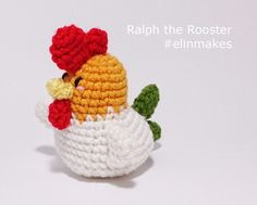 Amigurumi Pattern: Ralph the Rooster Zodiac Rooster by elinmakes