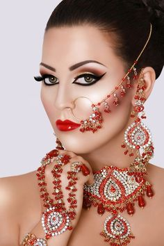 'Bridal Dolls' Inspiration from Asiana Magazine Style and Barbie at Mac Collection by Noveen Khan on Pakistani Makeup, Pakistani Bridal Jewelry, Indian Bridal Makeup, Asian Bridal, Wedding Makeup, Indian Jewelry, Bridal Jewellery, Arabic Makeup, South Asian Bride