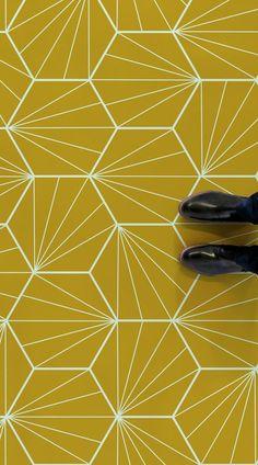 Erich Erich Daniela Di Canto danieladicanto Renovation Starburst is an Art Deco . - Erich Erich Daniela Di Canto danieladicanto Renovation Starburst is an Art Deco Tile Vinyl Flooring design featuring a bright and colourful nbsp hellip vinyl Flooring Vinyl Flooring Bathroom, Bathroom Vinyl, Art Deco Bathroom, Vinyl Tiles, Bathroom Floor Tiles, Tile Floor, Bathroom Layout, Kitchen Tiles, Small Bathroom