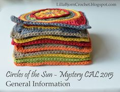 Circles of the Sun Mystery CAL - General Information | LillaBjörn's Crochet World