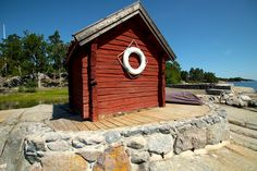 Brygga - Jetty on/på Kunnan. Built by Red Mount AB. Stockholm Archipelago. janis@redmount.se 00 46 700534688