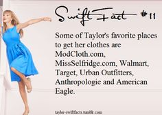 Taylor Swift Facts. I love how these stores aren't all thousand dollar stores