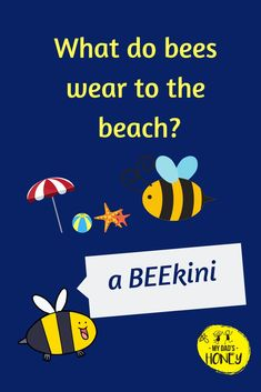 Joke Time! Let's have some BEE FUN! Don't forget to laugh! - #bees #beejokes #beehappy #jokes #fun #laugh #MyDadsHoney Funny Jokes And Riddles, Kid Jokes, Funny Jokes For Kids, Corny Jokes, Funny Puns, Funny Jokes In English, Grandchildren, Grandkids, Laugh Out Loud Jokes