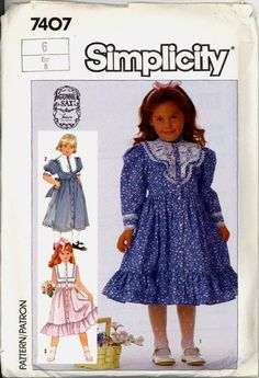 80s Gunne Sax Girls Dress Simplicity 7407 by VintagePatternsCo1, $5.99