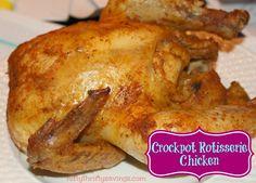 Crockpot Rotisserie Chicken - Cost me $1.99.