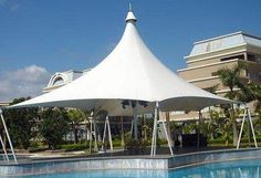 Caribbean shade sails, umbrellas and tensile canopies for hotels and resorts. TensileSystems.com