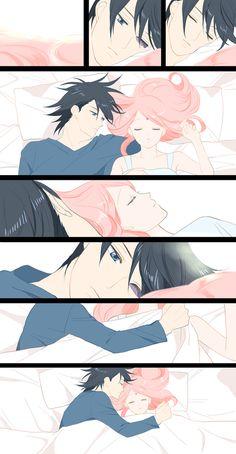 Sasuke and Sakura so cute!