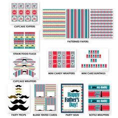 fathers day party, father day, free father, mustache fathers day, party printables, free printable fathers day, free mustach printables, parti printabl, fathers day mustache