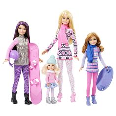 Barbie Sisters' Winter Fun Dolls | New playline dolls and sets: Barbie, Chelsea Winter 2015