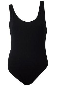Soft Ribbed Scoop Neck Bodysuit - Black #shoppitaya