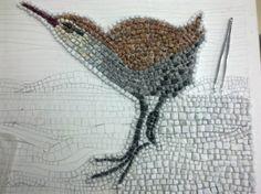 Fotos del pájaro (rascón europeo) en mosaico romano. | opus vermiculatum | Scoop.it