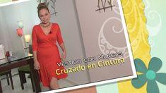 DIY Vestido con Mangas Cruzado en Cintura-  Dress with Crossed Sleeves i...