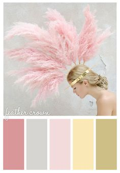 feather crown #pretty #pink #blush #crown #queen #gold cute colors for girls room