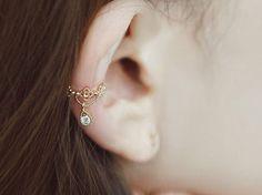 Elegante oído puños – plata – oro colores – diseño intrincado – pequeños - Jelwery de boda