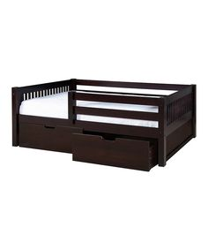 Look at this Cappuccino Mission Guard Rail Day Bed Frame & Drawers on #zulily today!