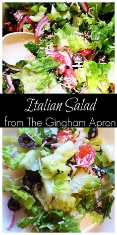 Italian Salad- The dressing for in this salad recipe is WONDERFUL! Italian Salad- The dressing for in this salad recipe is WONDERFUL! Italian Salad Recipes, Healthy Salad Recipes, Vegetarian Salad, Lettuce Salad Recipes, Side Salad Recipes, Simple Italian Recipes, Easy Green Salad Recipes, Salad Recipes For Parties, Healthy Snacks