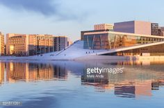 Cityscape of Oslo, Norway. The new Oslo Opera House to the... #oslo: Cityscape of Oslo, Norway. The new Oslo Opera House to the… #oslo