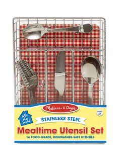 Let's Play House! Mealtime Utensil Set   Toys For Fine Motor Skills   Melissa and Doug