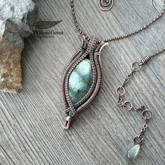 copper_wire_wrapped_labradorite_necklace | by MyWillowGems