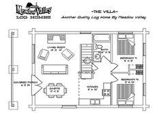 Meadow Valley Log Homes-The Villa -Floor Plans