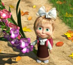 Masha Masha And The Bear Wallpaper Pictures to pin on Bear Wallpaper, Wallpaper Pictures, Disney Wallpaper, Cartoon Wallpaper, Marsha And The Bear, Little Girl Names, Russian Folk, Hd Picture, Disney Cars