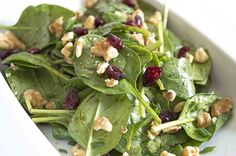 Maple Balsamic Vinaigrette on a Baby Spinach Salad