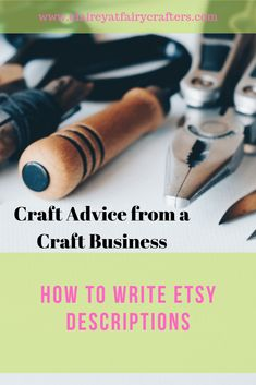 How to write Etsy descriptions that will entice a customer to purchase your items. What to include and what a customer is looking for. #handmadebusiness #productdescriptions #onlinedescriptions Business Goals, Business Advice, Online Business, Business Education, Business Products, Business Management, Business Branding, Decoupage Letters, 7 Places