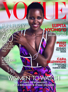 Lupita Nyong'o photographed by Mikael Jansson for Vogue's July Issue.