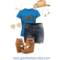 Blue Sequin Love Tee by ray-lisa on Polyvore featuring polyvore, fashion, style, Object Collectors Item, Ashley Stewart, Kate Spade, Alex and Ani, Minnie Grace and maurices