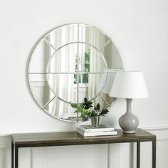 Need wall mirrors? Find the perfect wall mirror, full length, frameless and decorative wall mirrors, and all things decor for your home at Ballard Designs! Window In Shower, Dark Walls, Headboards For Beds, Round Mirrors, Ballard Designs, Home Office Furniture, Clean Design, Home Decor Items, Interior Doors