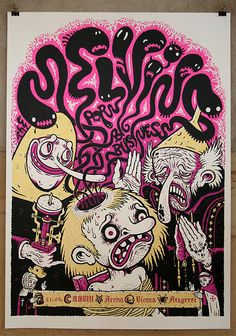 One of my all-time favorite Melvins posters. The artist is Vienna-based Atzgerei. This represents a design middle-ground for me and Josh -- religious iconography for him, and graphic, hand-lettered lunacy for me.