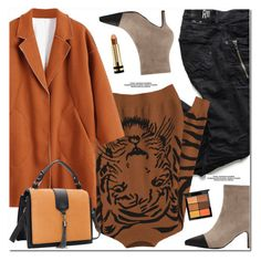 """Wool Blend Coat"" by oshint ❤ liked on Polyvore featuring MAC Cosmetics and Gucci"