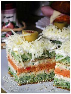 Šareni slani minjoni Finger Food Appetizers, Finger Foods, Mayonnaise, Macedonian Food, Brunch, Serbian Recipes, Sandwich Cake, Sandwiches For Lunch, Food Garnishes