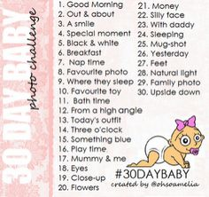 Oh So Amelia: 30 Day Baby Photo Challenge