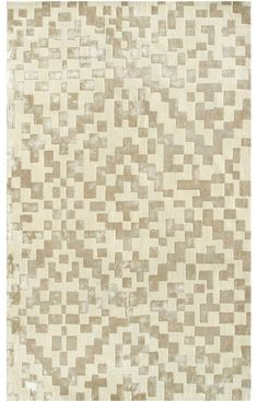 hand-tufted, Chinese silk and wool, area rug, rug, interior design, cream and white