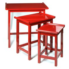 Red Chow Nesting Tables                                                                                                                                                                                 More
