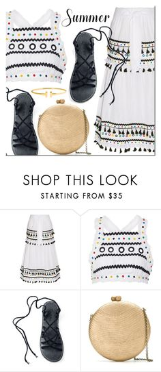 """""""Summer style with Plaka Sandals"""" by mada-malureanu ❤ liked on Polyvore featuring Dodo Bar Or, Serpui, summerstyle, embroidered, summerdate and plakasandals"""