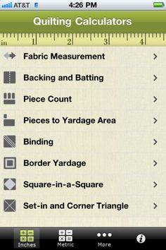 Found an app for you guys to get! Quilting Calculators Apps @Maria Canavello Mrasek Zeller @Sherri Levek Zeller @Rebecca A Zeller @Anna Totten Zeller http://pinterestinglady.com/?p=615