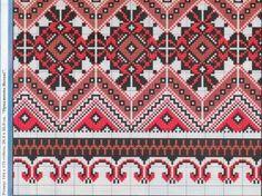 Схема вышивки славянского рушника