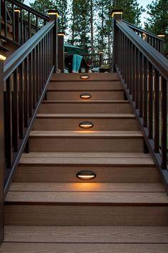 Deck lighting   Pinteres