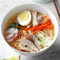 DIY Ramen Soup Recipe -This jarred version of ramen soup is a healthier alternative to most commercial varieties. You can customize the veggies to your taste. —Michelle, Clair, Seattle, Washington