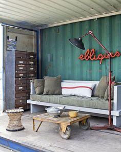 corrugated walls | painted corrugated metal wall