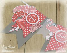 Banner by Emily Campbell  (042916)  [Stampin' Up! Pop of Paradise]