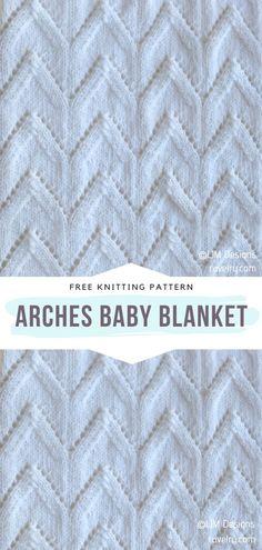 Soft Baby Blankets, Knitted Baby Blankets, Knitted Bags, Knitting Patterns Free, Free Pattern, Chevron Patterns, Blanket Patterns, Knit Baby Booties, Arm Knitting