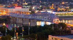 """Closer to home """"go to"""" place. The beautiful Newport on the Levee and Purple People Bridge. Walk from Kentucky to Ohio."""