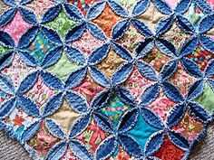 Recycled Denim Jeans- Rag Quilt Pattern.. want to try!